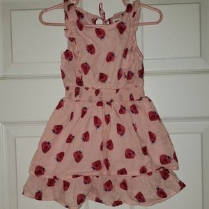 2T pink strawberry dress